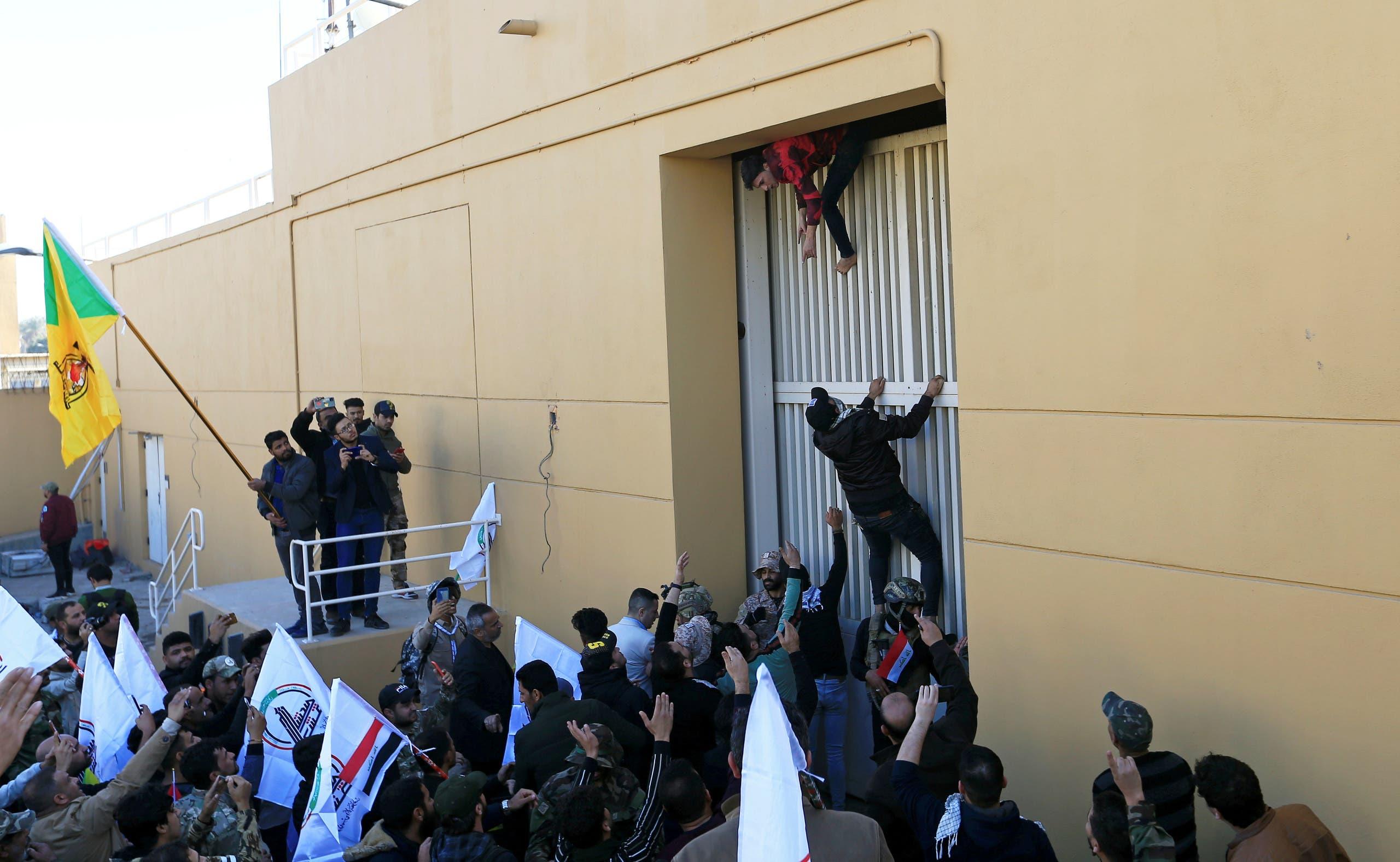 تلاش ناموفق شبهنظامیان هوادر ایران برای ورود به سفارت آمریکا در بغداد