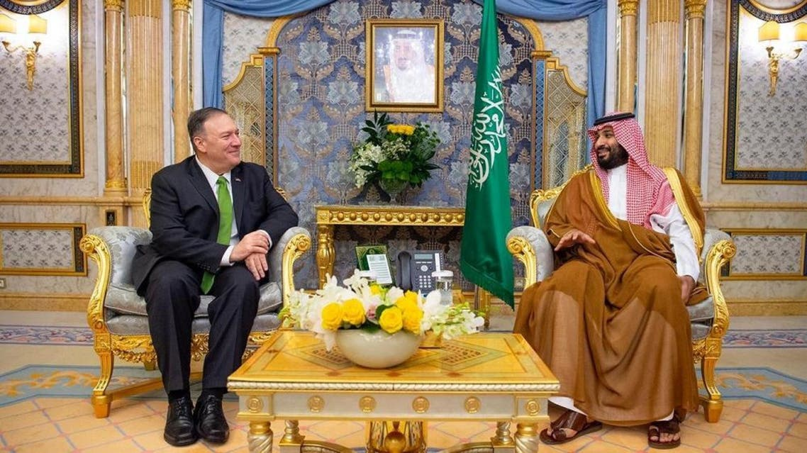 Secretary of State Mike Pompeo meets with Saudi Arabia's Crown Prince Mohammed bin Salman in Jeddah, Sept. 18, 2019. (Supplied)