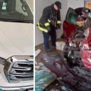 فيديو وصور.. حادث مروع داخل مغسلة سيارات بأميركا