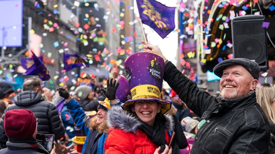 """Planet Fitness, in partnership with Time Square Alliance, tested the """"air worthiness"""" of the confetti prior to Times Square's New Year's Eve 2020 celebration on Sunday, December 29, 2019, in New York. (AP)"""