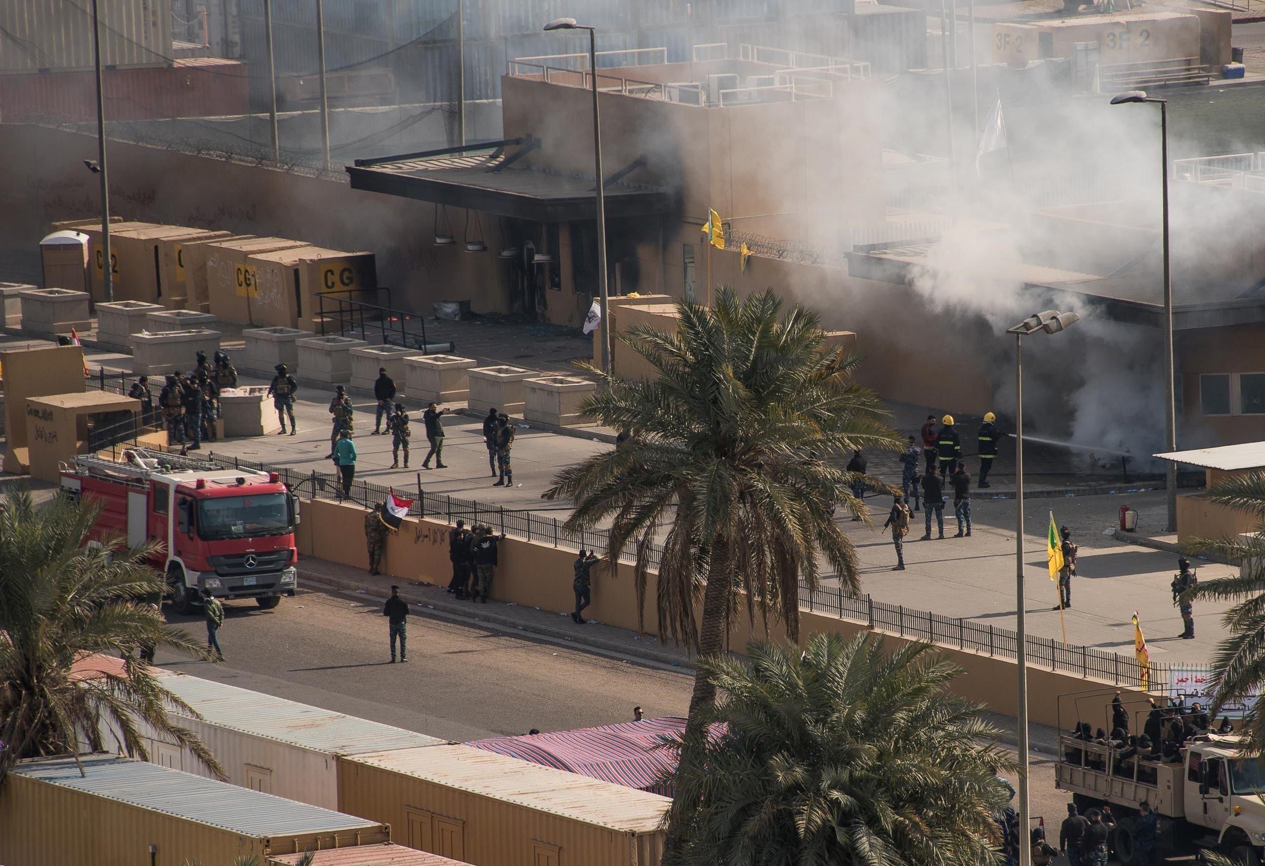 من محيط السفارة الأميركية في بغداد(أرشيفية - رويترز)