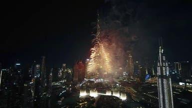 صور مبهرة لاحتفالات رأس السنة من برج خليفة في دبي