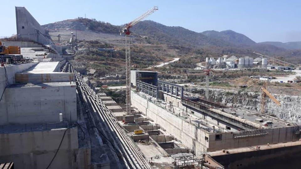 بالصور آخر تطورات بناء سد النهضة الإثيوبي