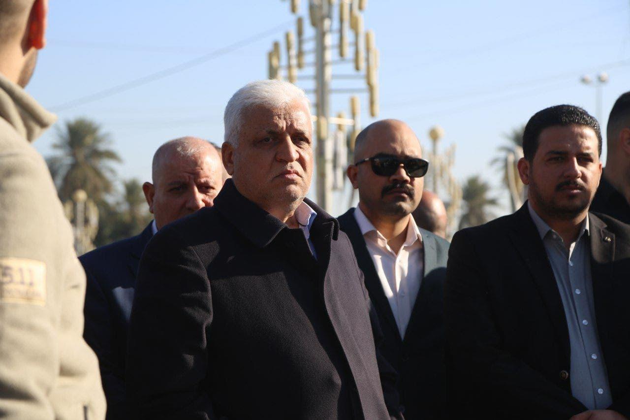 الفياض أثناء تشييع عناصر كتائب حزب الله