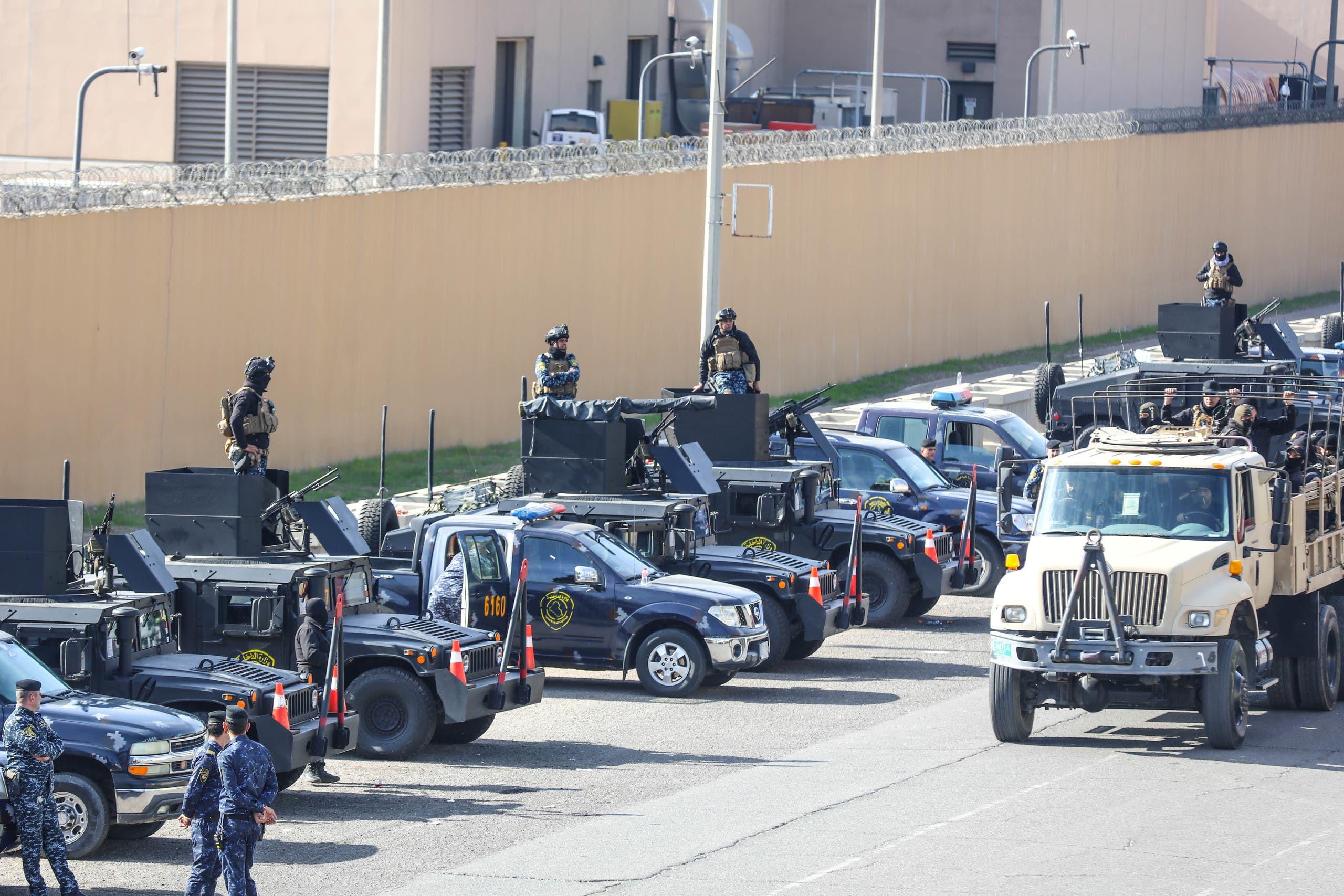 من محيط السفارة الأميركية في بغداد