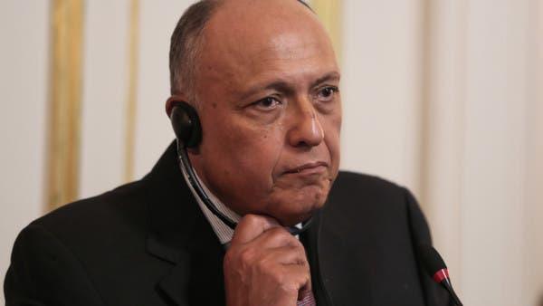 وزير خارجية مصر: نرفض أي تدخلات أجنبية في ليبيا