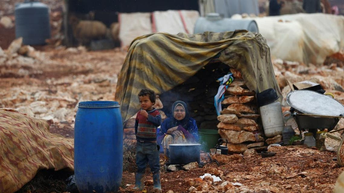 Displaced Syrians are pictured at Kelbit refugee camp, near the Syrian-Turkish border, in Idlib province, Syria January 17, 2018. (File photo: Reuters)