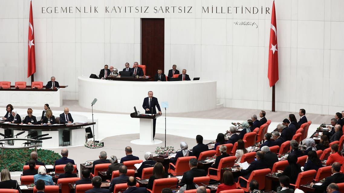 أردوغان في البرلمان التركي(أرشيفية- فرانس برس)