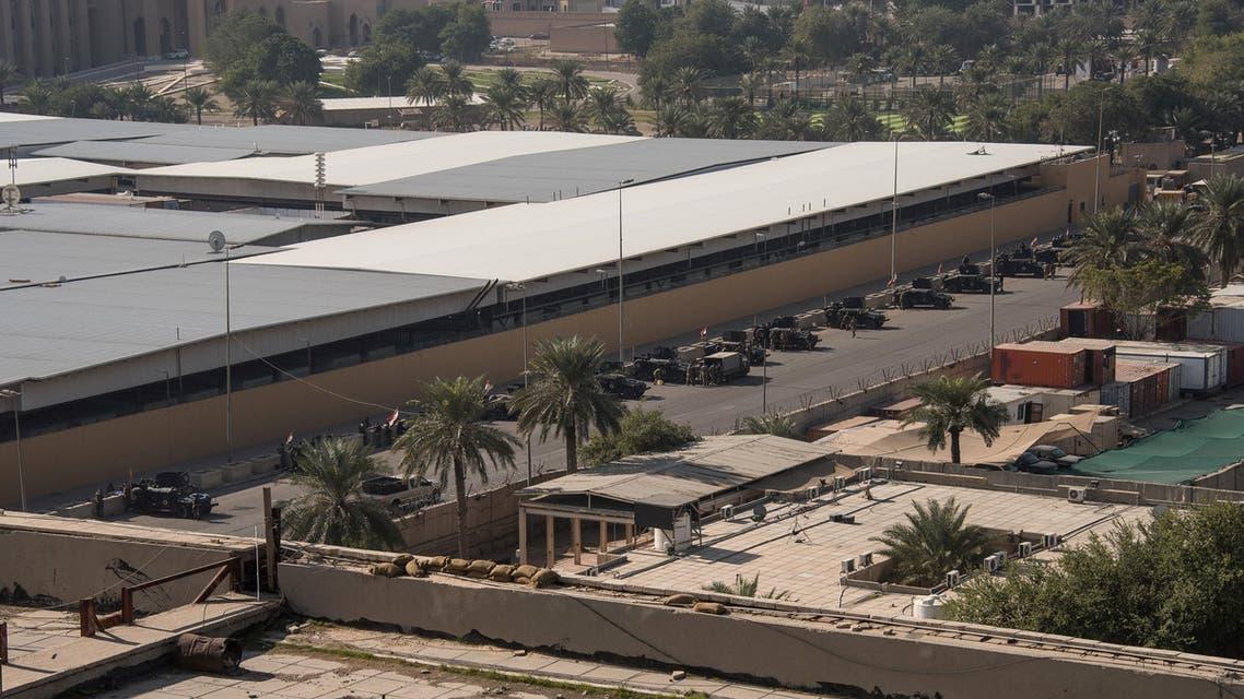 مجمع السفارة الأميركية في بغداد (الاول من يناير 2020- رويترز)