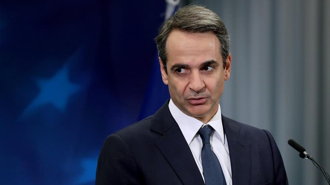 Greece's Prime Minister Kyriakos Mitsotakis gives a press conference during a European Union Summit at the Europa building in Brussels on December 13, 2019.(AFP)