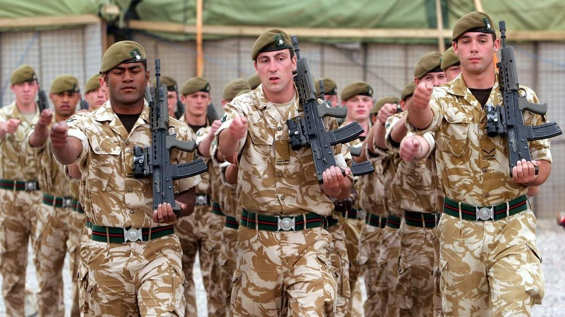 British soldiers parade during a ceremony to mark transfer of control of a British military base, in Basra, Iraq, Tuesday, April 24, 2007. (File photo: AP)