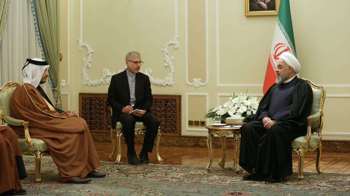 Iranian President Hassan Rouhani meets with Qatar's Foreign Minister Mohammed bin Abdulrahman bin Jassim Al Thani, in Tehran, Iran January 4, 2020. Official Presidential website/Handout via REUTERS ATTENTION EDITORS - THIS IMAGE WAS PROVIDED BY A THIRD PARTY. NO RESALES. NO ARCHIVES