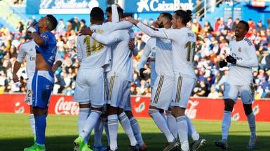 ريال مدريد يتصدر مؤقتاً بثلاثية خيتافي