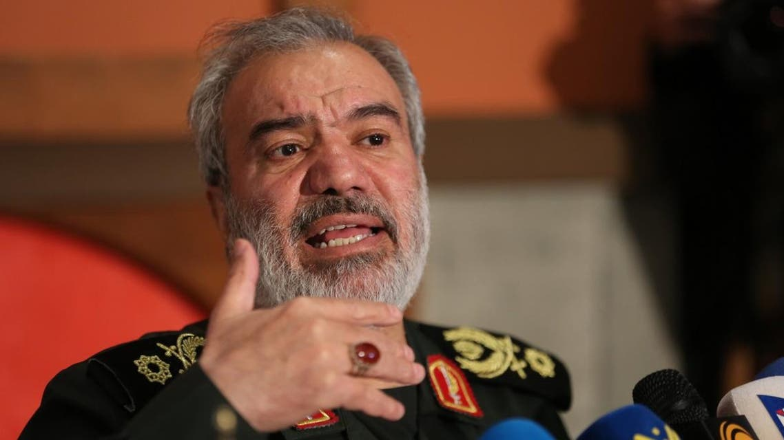Ali Fadavi, Deputy Chief of the Islamic Revolution Guards Corps (IRGC), delivers a speech during Basij Week in the Iranian capital Tehran on November 24, 2019.