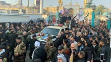 Thousands of Iraqis join Baghdad funeral procession for slain commanders