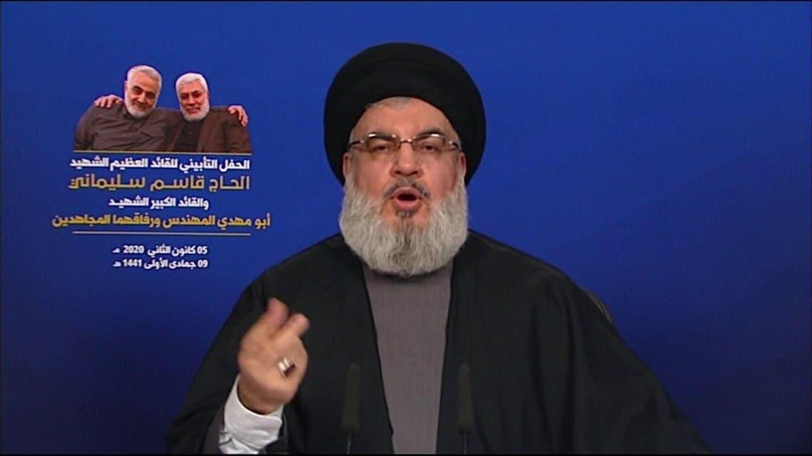 hassan nasrallah qassem soleimani screen grab