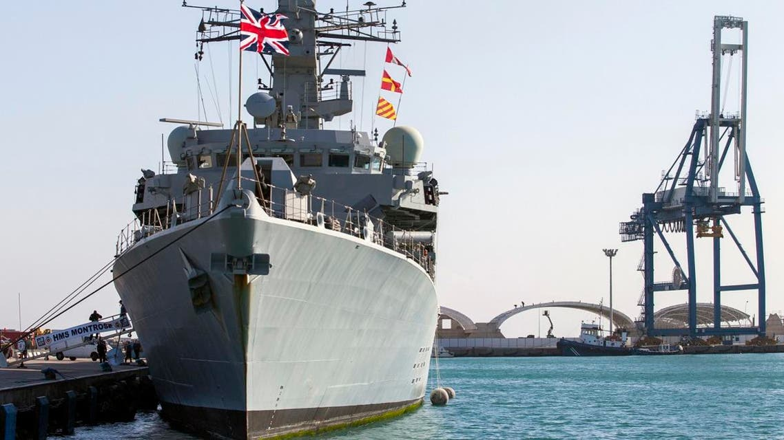 A picture taken on February 3, 2014, shows the British warship HMS Montrose docked in the Cypriot port of Limassol on February 3, 2014. (File photo: AFP)