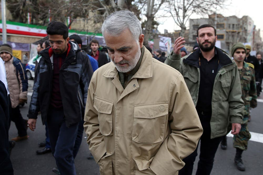 Assassinated IRGC commander Qassem Soleimani. (File photo: AFP)