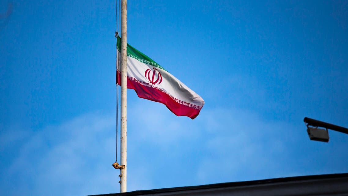 The Iranian national flag flies at half staff in sign of mourning for Iranian General Qassem Soleimani. (Photo: AP)