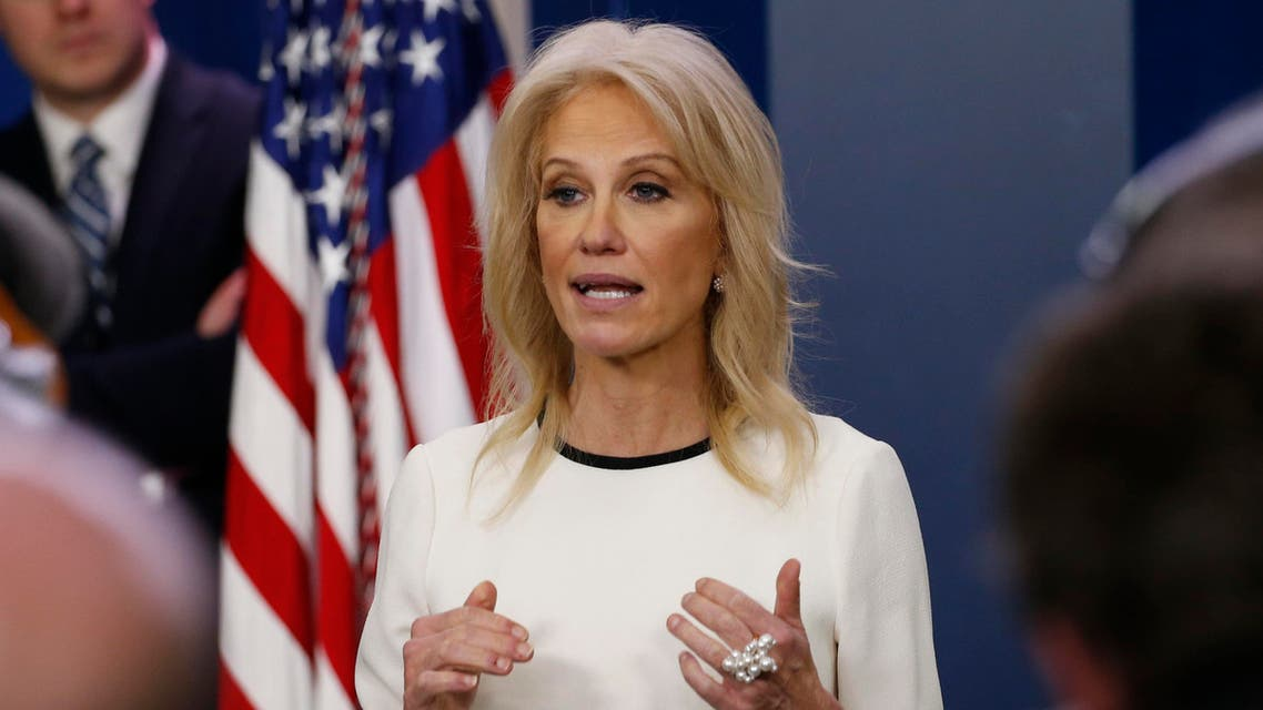 Counselor to the President Kellyanne Conway speaks during a briefing at the White House Wednesday, Dec. 18, 2019 in Washington. (AP Photo/Steve Helber)