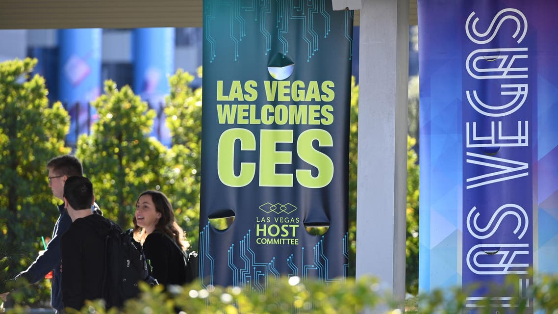 Attendees arrive at the Las Vegas Convention Center ahead of the 2020 Consumer Electronics Show (CES), in Las Vegas, Nevada, on January 5, 2020. (AFP)