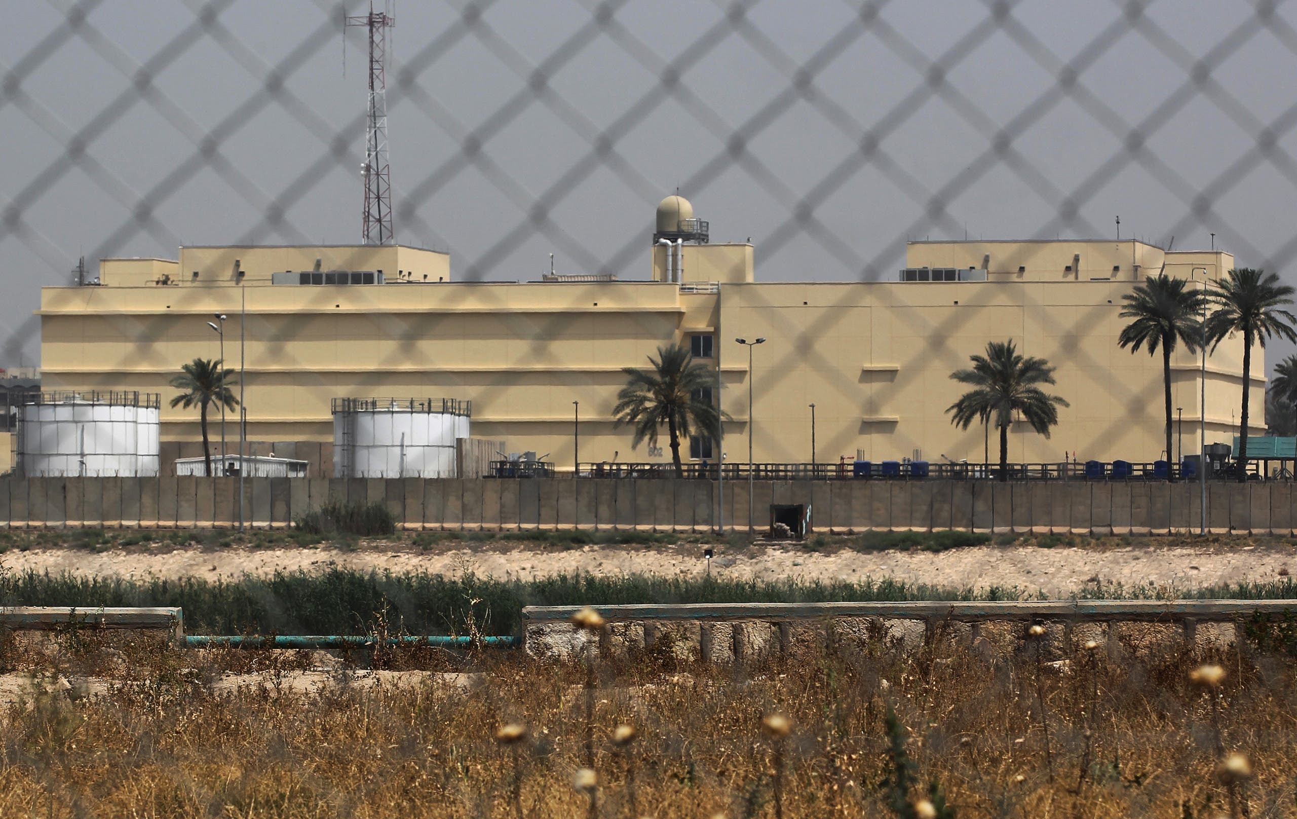 The US embassy compound is pictured in Baghdad's Green Zone on May 20, 2019 in the Iraqi capital. (AFP)
