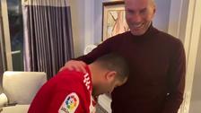 Zidane, UD Almería owner Turki Al-Sheikh recreate infamous 'Materazzi headbutt'