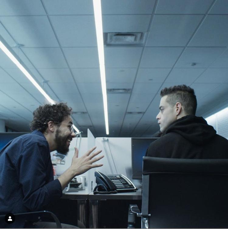 الثنائي رامي مالك ورامي يوسف في مسلسل مستر روبوت