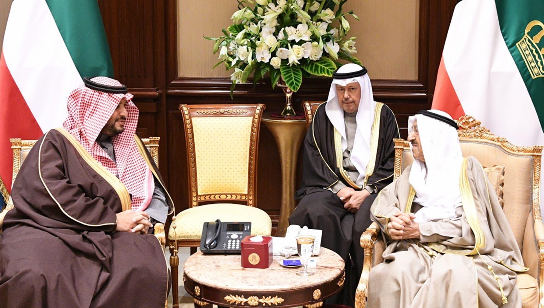 أمير الكويت ووزير الدولة السعودي وعضو مجلس الوزراء الامير تركي بن محمد بن فهد آل سعود