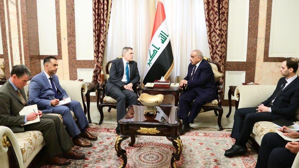 عبدالمهدي والسفير الأميركي في بغداد