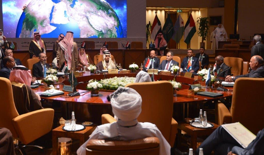 جانب من اجتماع مجلس الدول العربية والإفريقية المطلة على البحر الأحمر وخليج عدن