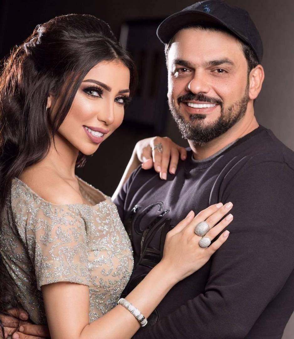 دنيا بطمة وزوجها محمد الترك