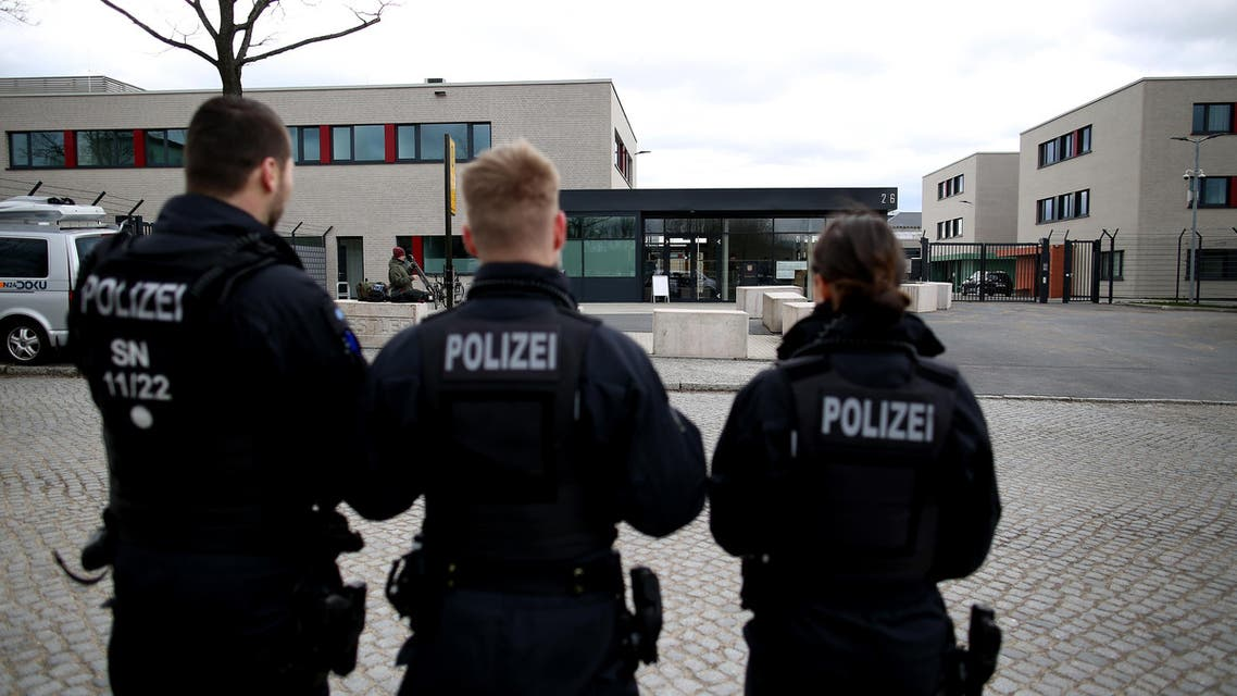 German policemen infront of the Higher Regional Court. (File photo: AFP)