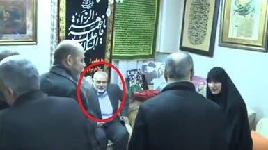 بالفيديو.. رئيس حركة حماس في منزل سليماني بطهران