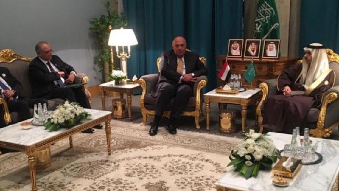 وزير الخارجية السعودي ونظيره المصري