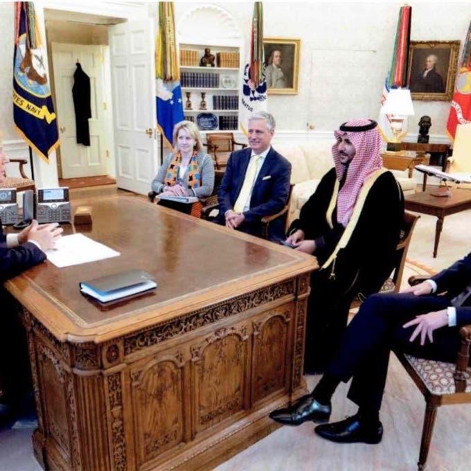 خالد بن سلمان وترمب يناقشان استقرار الشرق الأوسط
