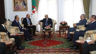 تبون يستقبل أوغلو.. والجزائر: طرابلس خط أحمر