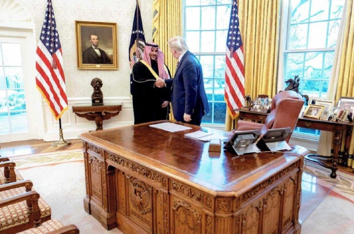Saudi Deputy Defense Minister Prince Khalid bin Salman meets with US President Donald Trump in the White House on December 6, 2020. (Photo: Twitter)