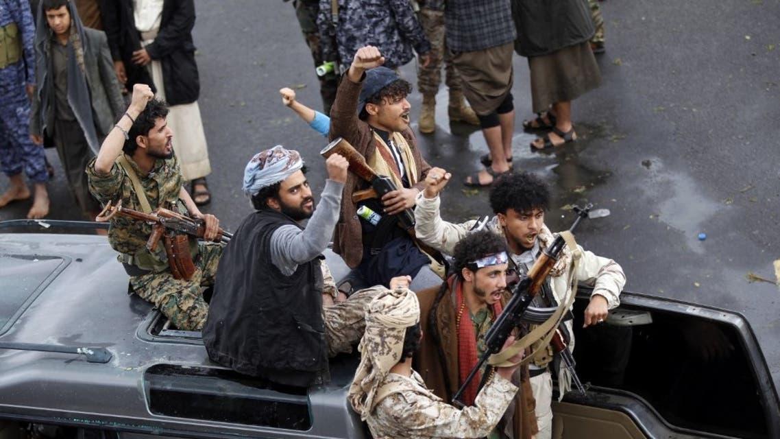 عناصر حوثية في صنعاء - 6 يناير فرانس برس