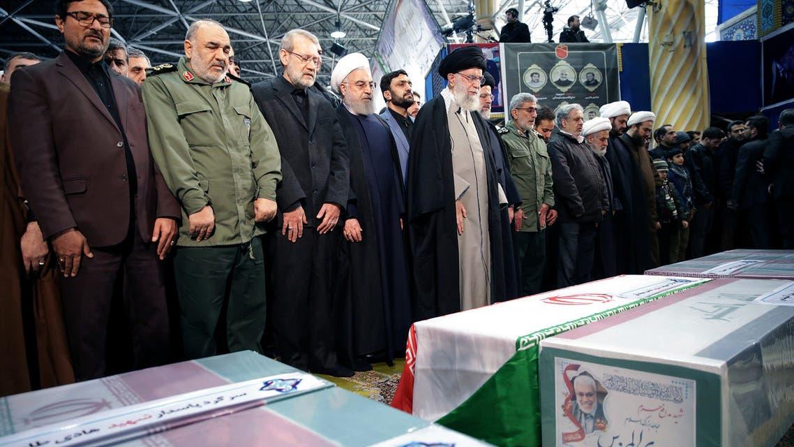 تشييع سليماني في طهران (فرانس برس)