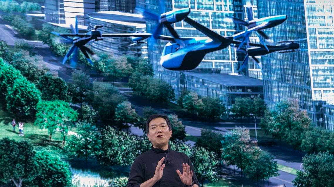 SangYup Lee, Head of Hyundai Design Center, talks about the S-A1 electric vertical takeoff and landing (eVTOL) aircraft at the Hundai news event where Hyundai announced it's partnership with Uber to create an air taxi network. (AFP)