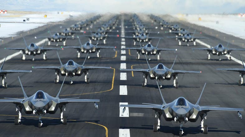 US Air Force launches 52 f 35s in rapid succession as part