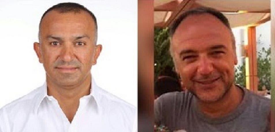 إلى اليمين، الطيار الذي نقله من طوكيو الى اسطنبول، والثاني منها الى بيروت