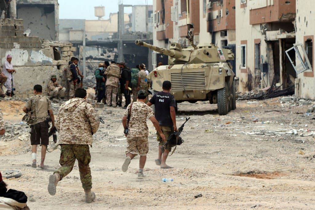 معارك سابقة في مدينة سرت الليبية - فرانس برس