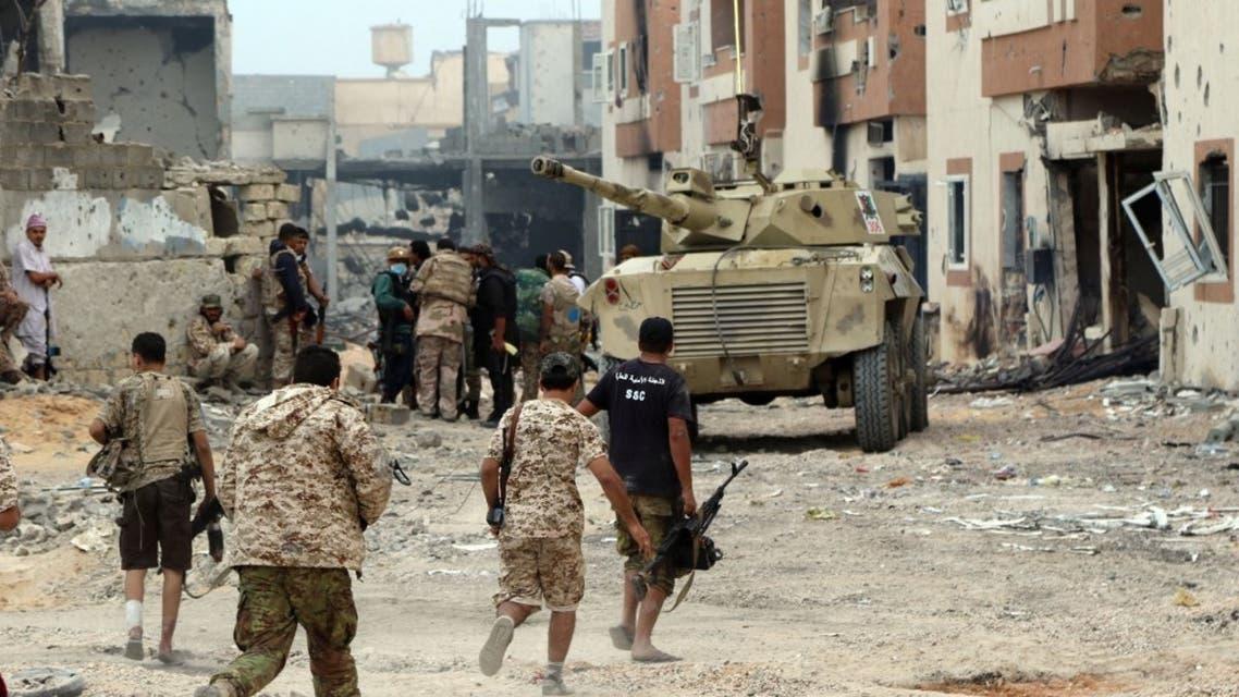 من مدينة سرت الليبية - فرانس برس