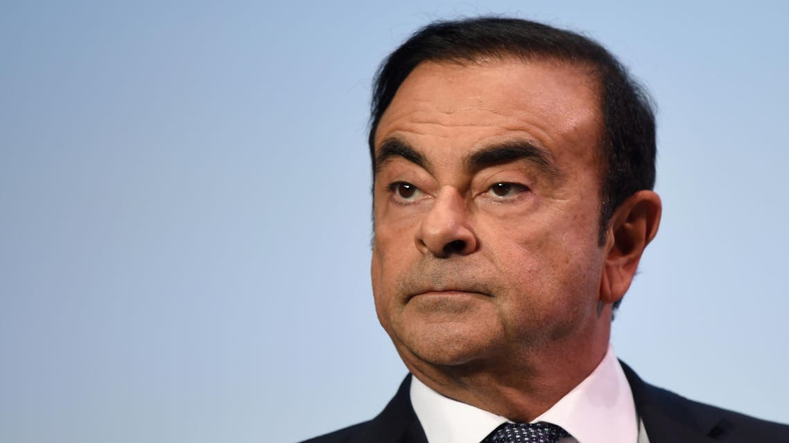 """In this file photo taken on October 1, 2018 then French Renault group CEO and chairman of Japan's Nissan Motor CO. Ltd and Mitsubishi Motors Corp, Carlos Ghosn attends the event """"Tomorrow in Motion"""" (AFP)"""