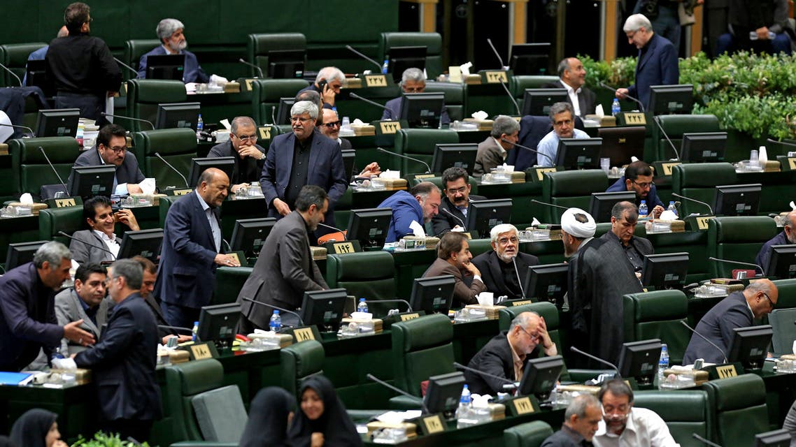 Iranian lawmakers attend an address given by the president before parliament in the capital Tehran on September 3, 2019. (AFP)