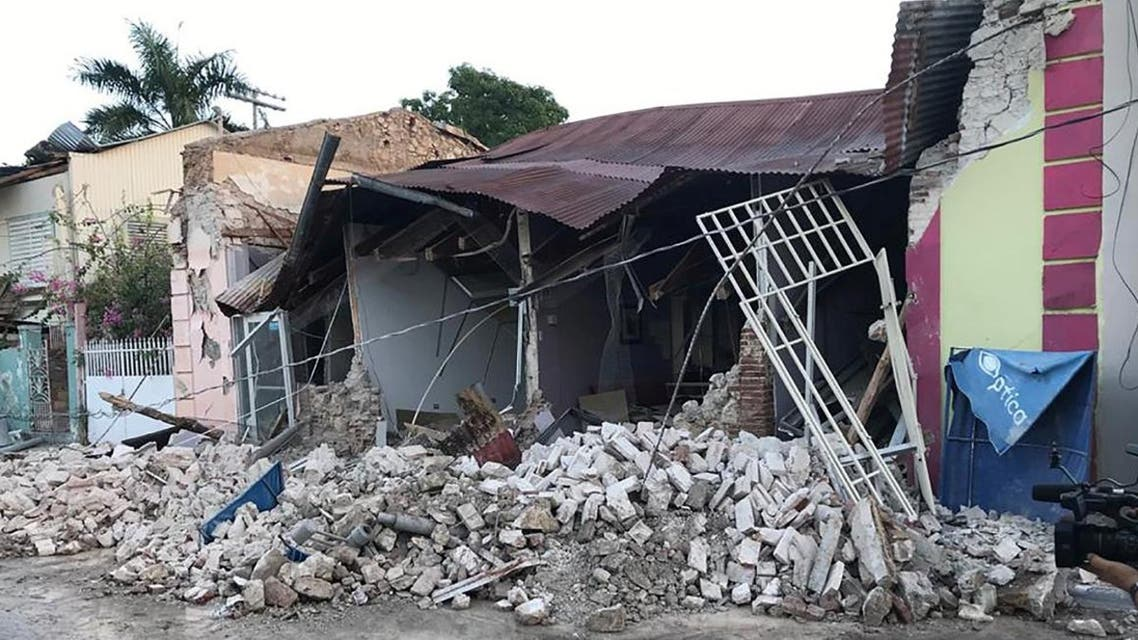 A home is seen collapsed after an earthquake in Guanica, Puerto Rico January 7, 2020. (Photo: Reuters)
