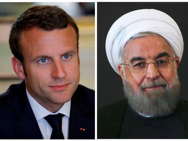 """روحاني لماكرون: مصالح أميركا بالشرق الأوسط """"في خطر"""""""