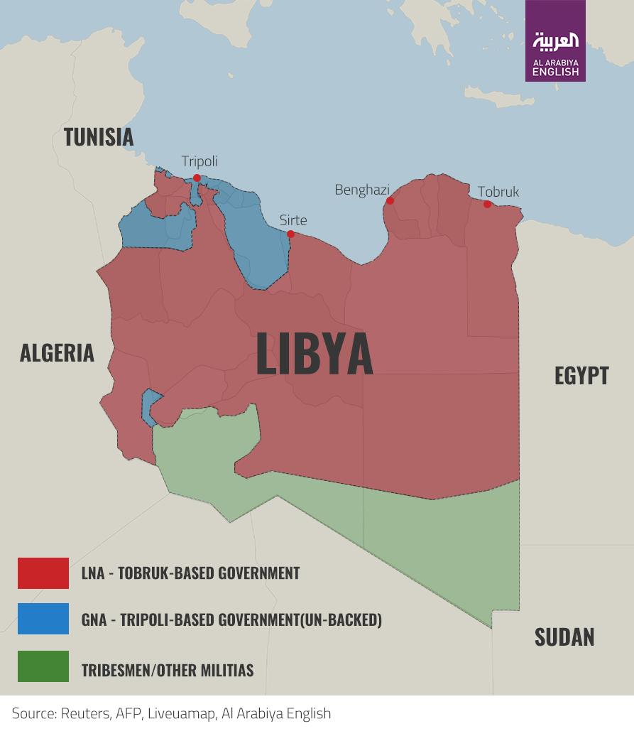 Libya Map Infographic - Omar El Katouri